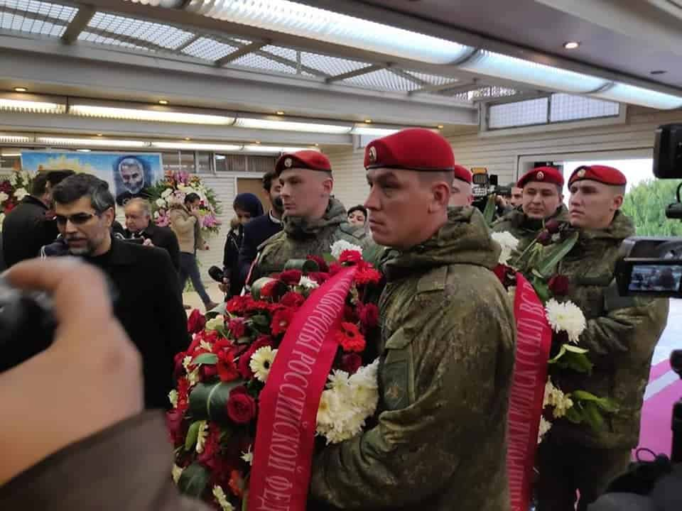 RUSSIAN MILITARY PAYS RESPECT TO IRAN'S GENERAL SOLEIMAN