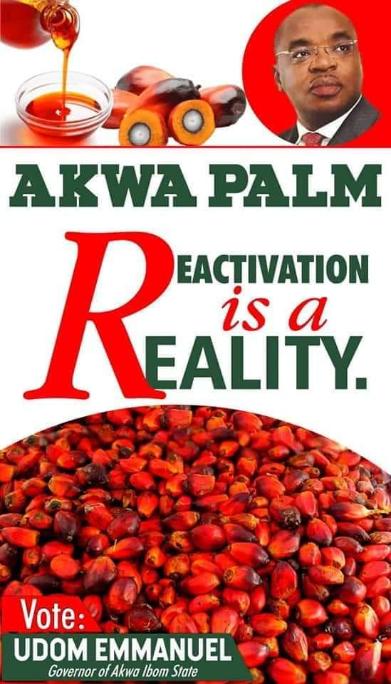 THE REACTIVATION OF AKWA PALM INDUSTRY; A DECOY BY GOV. UDOM EMMANUEL TO GET SUPPORT FROM ESIT EKET FOR HIS SECOND TERM BID