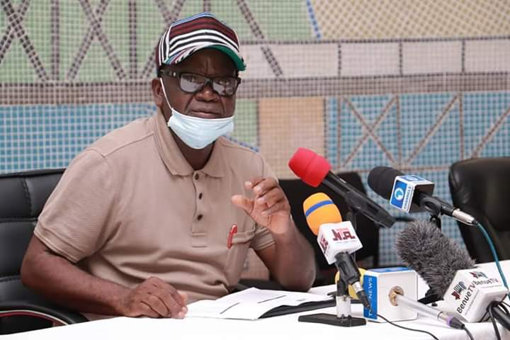 COVID19: Ortom Encourages People To Go For Test As Wife And SSG Test Positive For Covid-19